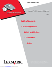 lexmark c78x c78 c77x c77 printer service manual