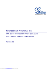 Grandstream Networks Phone Book Guide Manuals