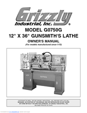 Grizzly G0750G Owner's Manual