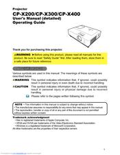 hitachi cp x400 manuals rh manualslib com Hitachi StarBoard Manual Hitachi Manuals Television
