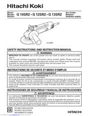 Hitachi grinder manual.