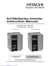Hitachi SJ700–1320HFE2 Instruction Manual