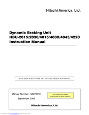 Hitachi HBU-2015 Instruction Manual