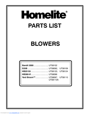 Homelite Yard Broom UT08087 Parts List