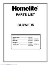Homelite Yard Broom UT08087 Parts List