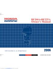 Honda Marine BF200A Manuals