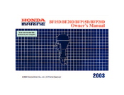 Honda Marine BF20D Owner's Manual