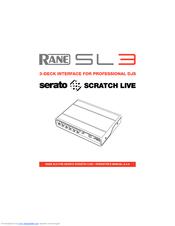 rane sl3 manuals rh manualslib com SL3 Scratch 2.4.4 SL3 Mixer