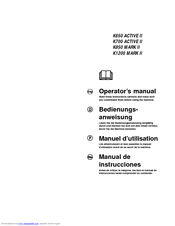 Husqvarna K700 ACTIVE II Operator's Manual