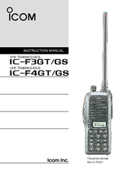 ICOM IC-F4GS Instruction Manual