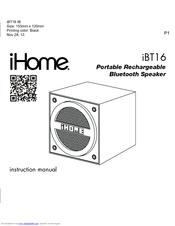 ihome ibt16 manuals rh manualslib com ihome instructions manual pdf ihome instructions manual pdf