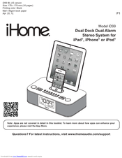 ihome user guide various owner manual guide u2022 rh justk co Pink iHome for iPod iHome for iPhone 5 Dock
