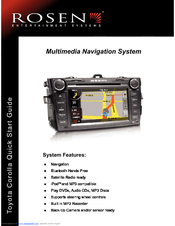rosen toyota corolla navigation manuals rh manualslib com toyota 16035 voice navigation manual toyota navigation system manual pdf