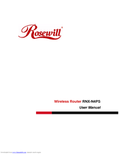Rosewill rnx-n300rt default password & login, manuals, firmwares.
