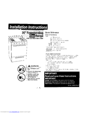 KitchenAid GAS RANGE Installation Instructions Manual