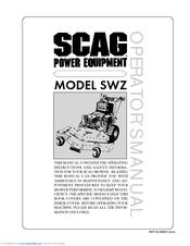 SCAG POWER EQUIPMENT SWZ OPERATOR'S MANUAL Pdf Download