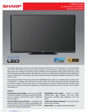 sharp aquos lcd tv manual