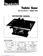 Makita 2708 Instruction Manual