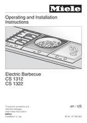 Miele CS 1312 Operating And Installation Instructions