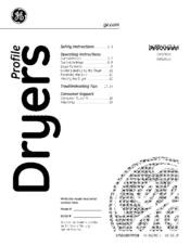ge profile dpsr610 manuals rh manualslib com ge profile dryer service manual ge profile dryer owners manual