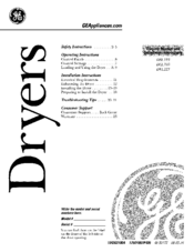 GE DBL333 OWNER'S MANUAL AND INSTALLATION INSTRUCTIONS Pdf ... on