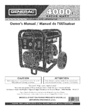 GENERAC PORTABLE PRODUCTS 4000EXL OWNER'S MANUAL Pdf Download