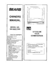 sears lxi series 934 44817390 owner s manual pdf download rh manualslib com LXI TV Input Sony TV Videoscope Coffee Table
