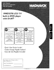 magnavox 19md357b hook up guide manuals rh manualslib com Magnavox LCD TV Manual Magnavox 15MF605T 17 Manual