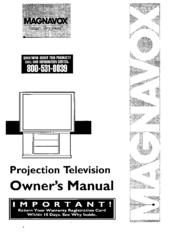 magnavox projection television manuals rh manualslib com Magnavox PIP Magnavox 51MP392H