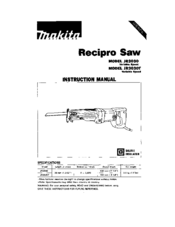 MAKITA JR3030T Instruction Manual