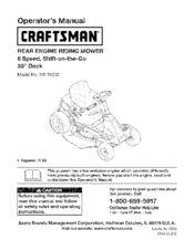 Craftsman 247 25000 Manuals