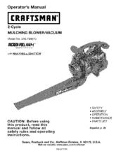 CRAFTSMAN INCREDI PULL 316 794970 OPERATOR'S MANUAL Pdf