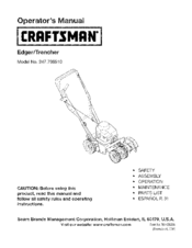 Craftsman 247.796510 Operator's Manual