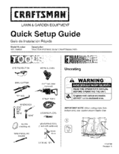 Craftsman 107289850 PGT9500 Quick Setup Manual