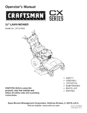 Craftsman CX series 247.374880 Operator's Manual