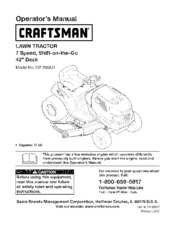 Craftsman 247.288831 Operator's Manual