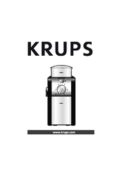 Krups GVX1, GVX2 Instructions Manual
