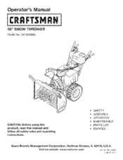 craftsman 247 883960 manuals rh manualslib com craftsman lawn mower model 944 manual craftsman snowblower model 944 manual