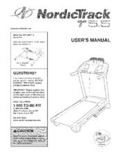 nordictrack t 5.5 treadmill manual