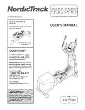 nordictrack audiostrider 990 pro ntel09811 2 user manual pdf download rh manualslib com AudioStrider 990 Pro Elliptical audiostrider 990 pro manual