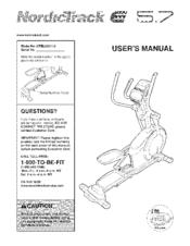 NORDICTRACK E5.7 NTELO5011.0 User Manual
