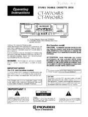 Pioneer ct-w704rs инструкция