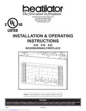 Heatilator E36 Installation Operating Instructions Manual Pdf