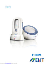 Philips Avent DECT baby SCD498 User Manual