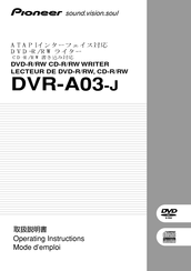 Pioneer DVR-A03-J Operating Instructions Manual