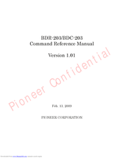 Pioneer BDC-203 Command Reference Manual