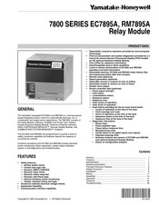 Honeywell 7800 SERIES RM7895A Product Data