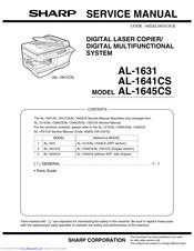 Sharp AL 1631 Manuals ManualsLib