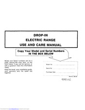 Maytag 336126 Use And Care Manual