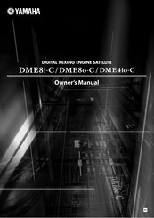 Yamaha DME4IO-C Owner's Manual